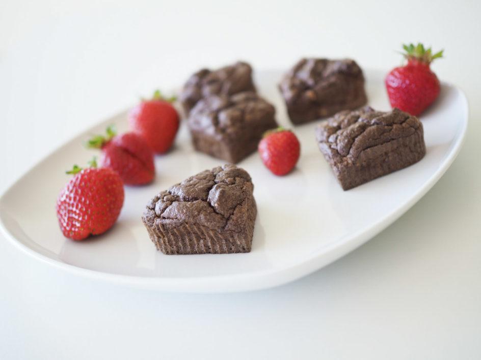 vanilla chocolate carob muffins