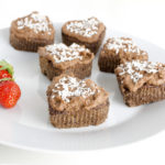 coconut muffins with chocolate frosting
